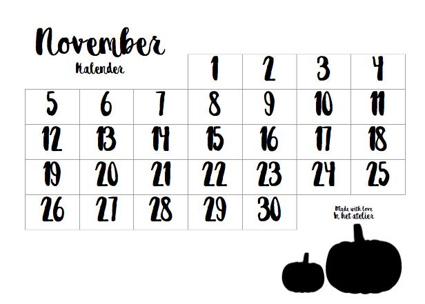 Oktoberkalender